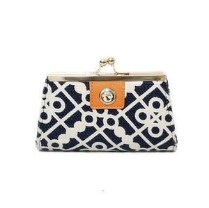SPARTINA 449 Navy Blue & White Coin Change Purse